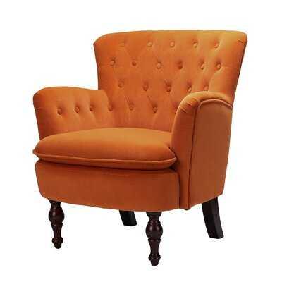 Didonato Velvet Tufted Upholstered Armchair - Wayfair