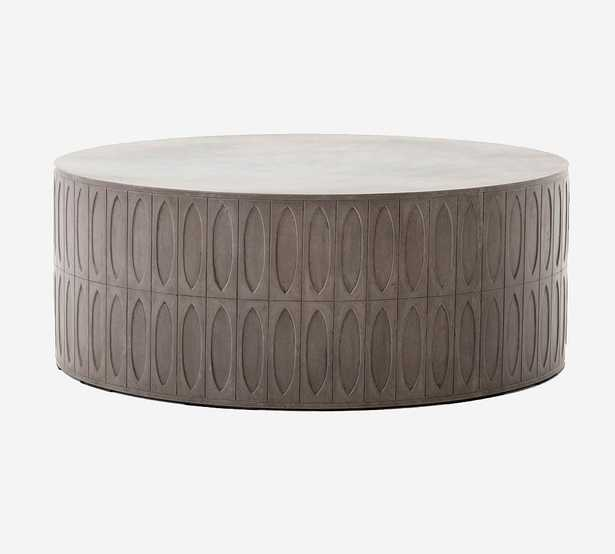 Woolf Concrete Round Coffee Table, Gray - Pottery Barn