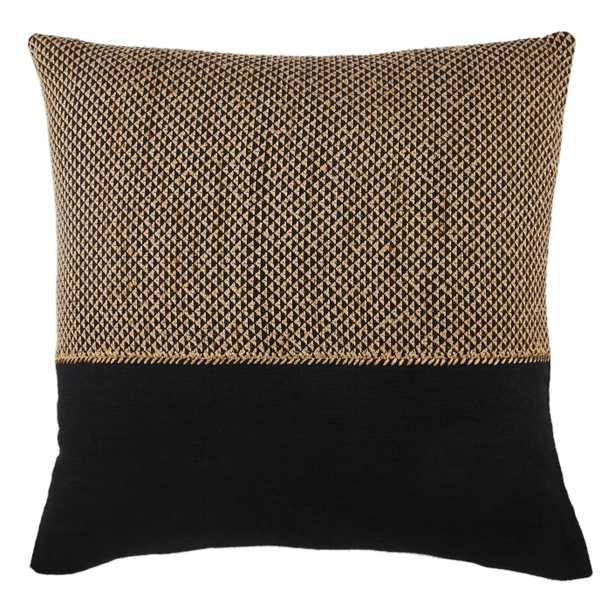 "Design (US) Light Tan 22""X22"" Pillow - Collective Weavers"