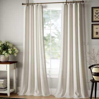 Barstow Solid Semi-Sheer Rod Pocket Curtain Panels - Birch Lane