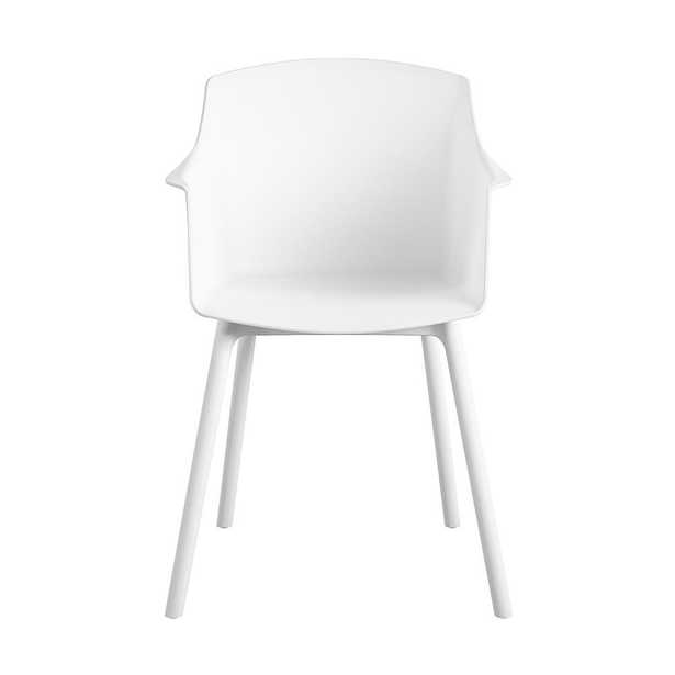 Cosco CosmoLiving by Cosmopolitan Camelo Collection White Resin Outdoor Dining Chair (2-Pack) - Home Depot