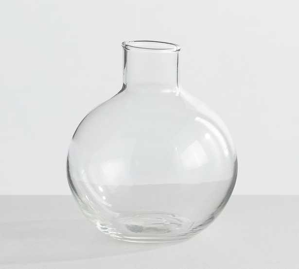 Skylar Glass Bottleneck Bud Vase, Clear - Pottery Barn
