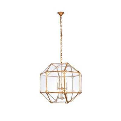 Puccio 6 - Light Geometric Chandelier - AllModern