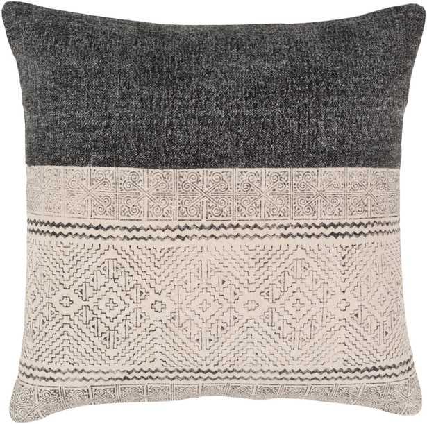 "Sariah Pillow Cover, 20""x 20"", Black - Cove Goods"