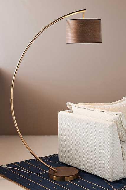 Luna Floor Lamp By Anthropologie in Gold - Anthropologie