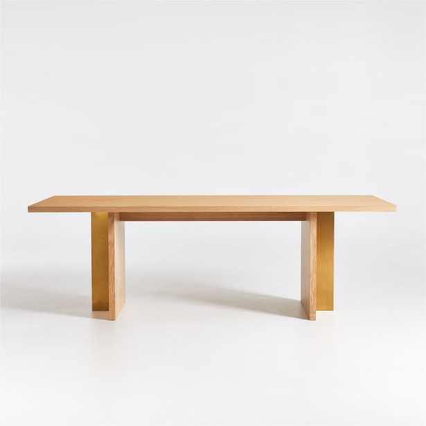 """Paradox 85"""" Natural Oak Dining Table - Crate and Barrel"""