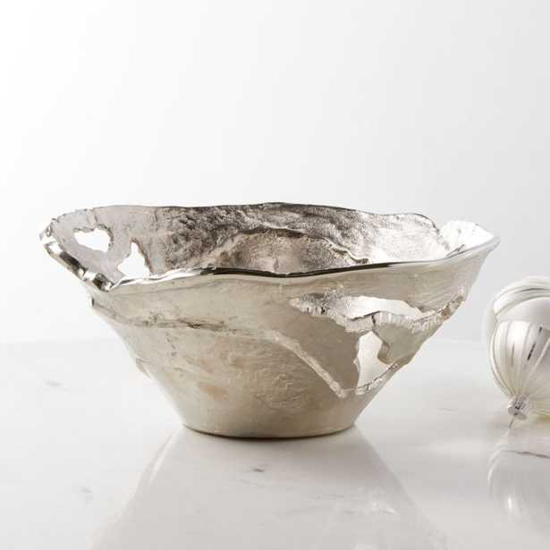 Hailey Deep Silver Decorative Bowl - Crate and Barrel