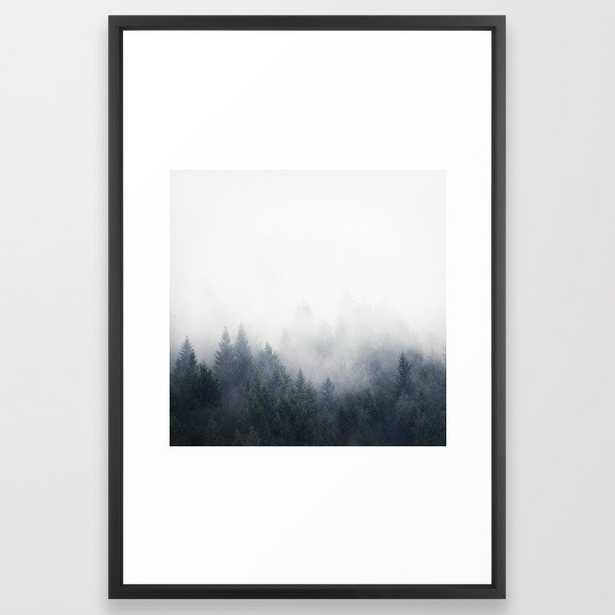 I Don't Give A Fog Framed Art Print by Tordis Kayma - Vector Black - LARGE (Gallery)-26x38 - Society6