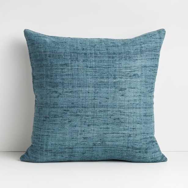 "Trevino 20"" Aqua Pillow with Down-Alternative Insert - Crate and Barrel"