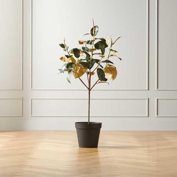 Potted Faux Rubber Plant 4.5' - CB2
