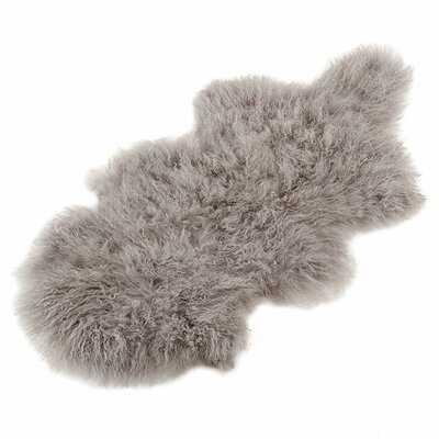 Mcreynolds Handmade Sheepskin Gray Rug - Wayfair