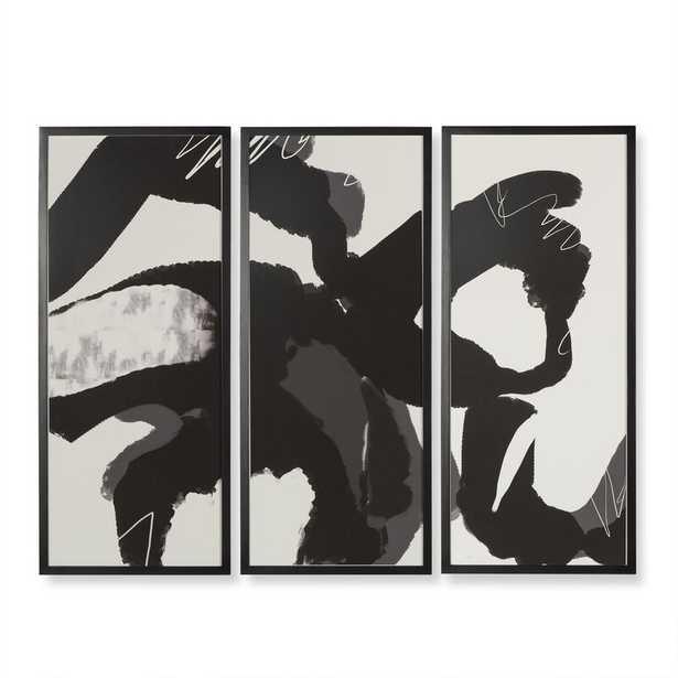 Sonder Living 'Ink Movement' Framed Graphic Art Print Multi-Piece Image on Paper - Perigold