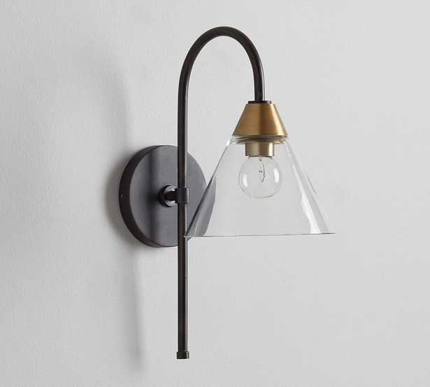 Claremont Glass Sconce, Flared, Bronze - Pottery Barn