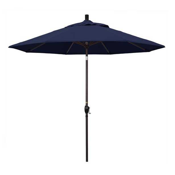 9' Market Umbrella Fabric: Navy Blue, Frame Finish: Matted White - Perigold