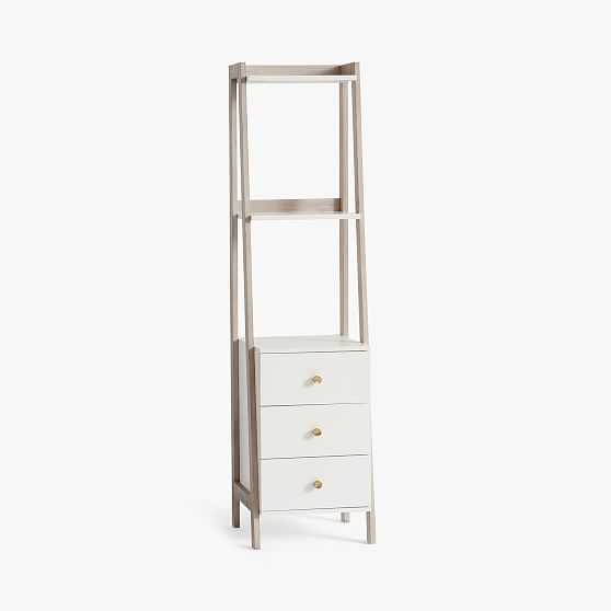 Highland Bookcase with Drawers,Weathered White - West Elm