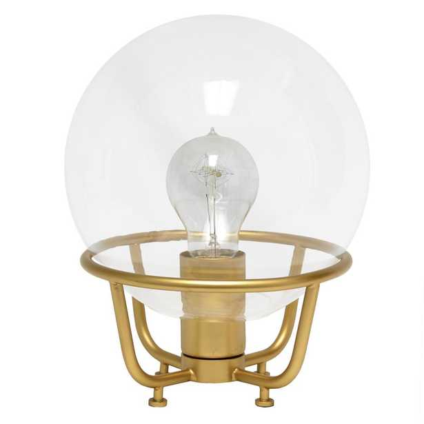 Lalia Home 10 in. Matte Gold Old World Globe Glass Table Lamp - Home Depot