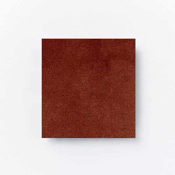 Upholstery Fabric by the Yard, Astor Velvet, Rust - West Elm