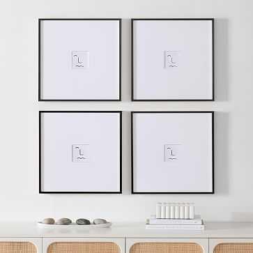 Metal Gallery Frame Square, Black Powder Coated, 18X18 in et of 4 - West Elm