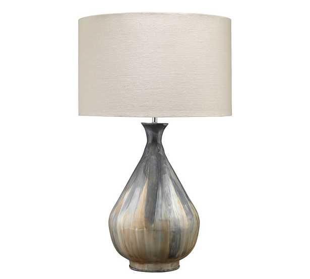 Kingsburg Iron Table Lamp, Gray - Pottery Barn