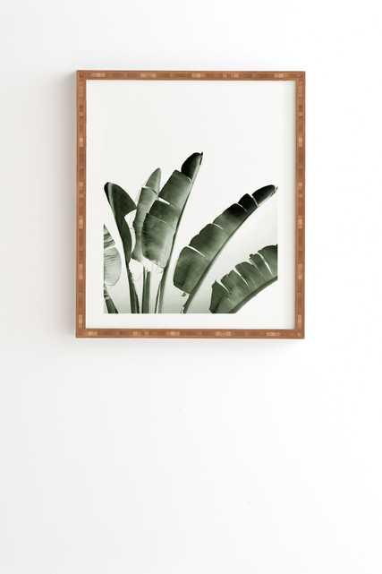 "Traveler Palm by Gale Switzer - Framed Wall Art Bamboo 19"" x 22.4"" - Wander Print Co."