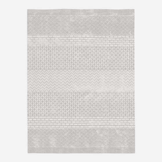 Trellis Shine Rug, 6'x9', Frost Gray - West Elm