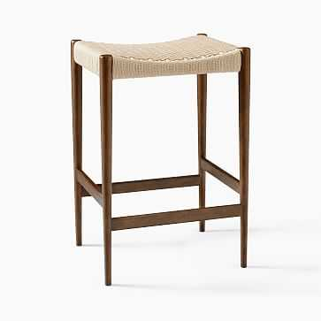 Holland Backless Counter Stool, Natural, Cord - West Elm