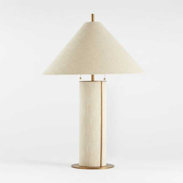 Remi Natural Linen Table Lamp - Crate and Barrel