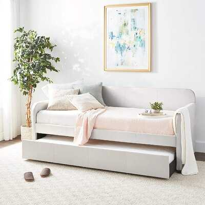 Daybed & Trundle (Twin Size) In Fog Fabric - Wayfair
