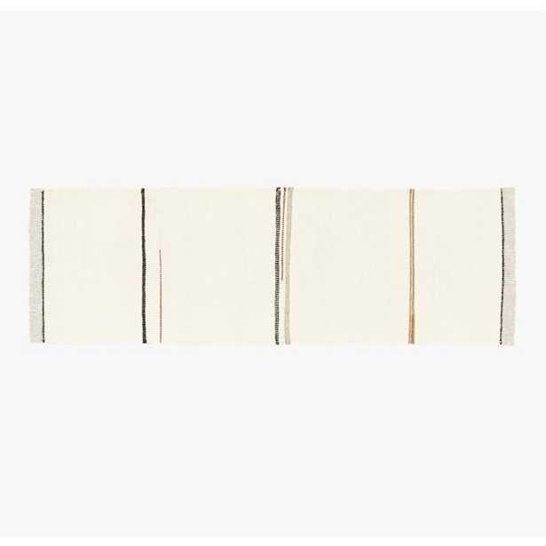 Preston Linen Blend Stripe Runner 2.5'x8' - CB2