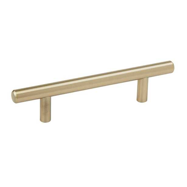 3-3/4 in. (96 mm) Center Golden Champagne Cabinet Pull - Home Depot