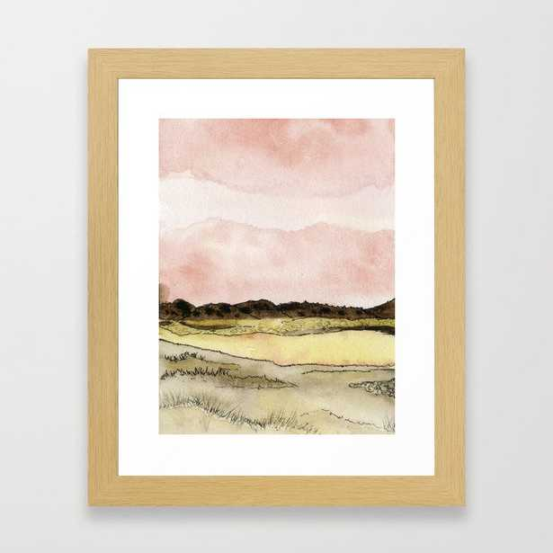 West Texas Sky After Sunset Watercolor Landscape Framed Art Print by Olivia Joy St Claire X  Modern Photograp - Conservation Natural - X-Small-10x12 - Society6