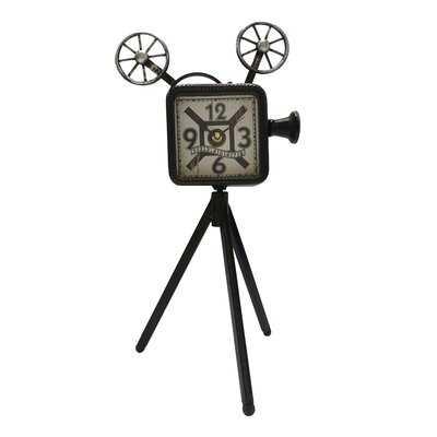 Film Projector Table Clock - Wayfair