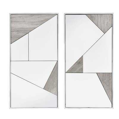 2 Piece Paull Modern and Contemporary Mirror Set - Wayfair