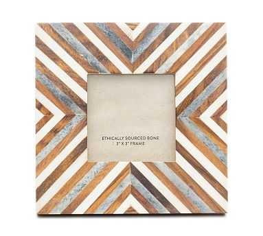 "Harita Bone Picture Frame, Brown, 3"" x 3"" - Pottery Barn"