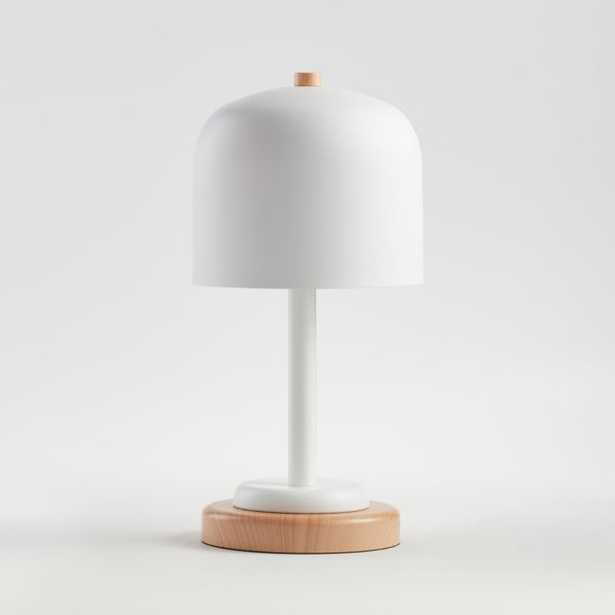 White Modern Dome Touch Table Lamp - Crate and Barrel