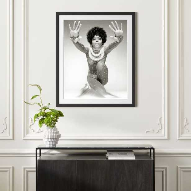 """Diana Ross Reaching Out With Black Frame 33""""x39.5"""" - CB2"""