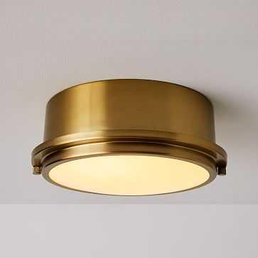 Metal Ring Flushmount, Antique Brass - West Elm
