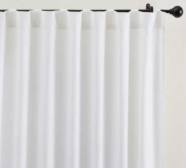 "Broadway Rod Pocket Blackout Curtain, Set of 2, 50 x 108"", White - Pottery Barn"