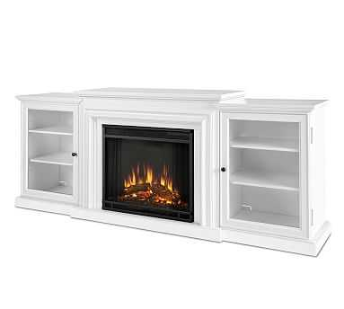Frederick Electric Fireplace Media Cabinet, White - Pottery Barn