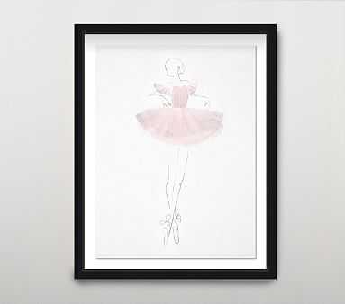 La Ballerina I Wall Art, Blush - Pottery Barn Kids