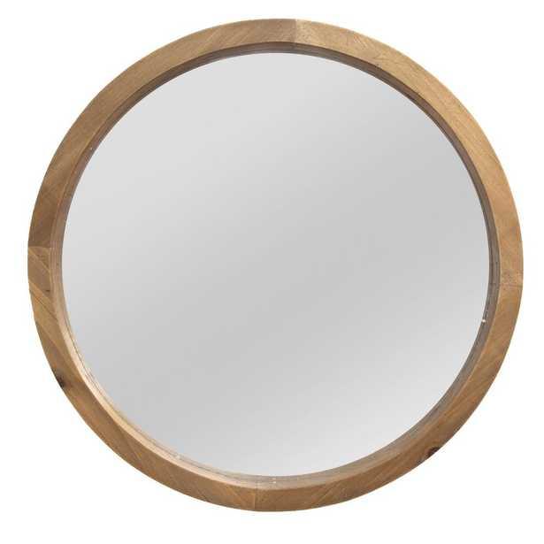 Stratton Home Decor Maddie Wood Mirror, Light Natural - Home Depot