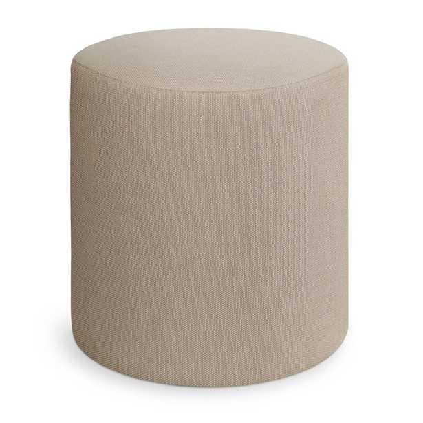 "Blu Dot Bumper 17"" Round Pouf Ottoman Fabric: Beige - Perigold"