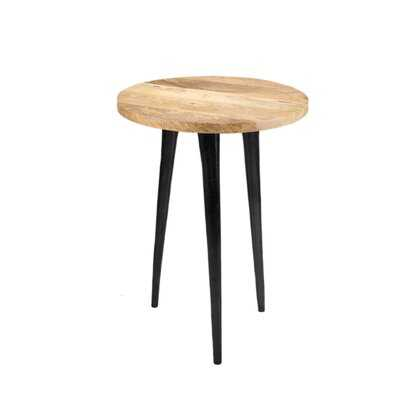 """Union Rustic Soho Wood Side Table, Modern Side Tables For Small Spaces, 3 Leg End Table, Accent Table As Nightstand, Coffee Table, For Plant In Bedroom, Living Room, 16"""" Tall & 12"""" Diameter - Wayfair"""
