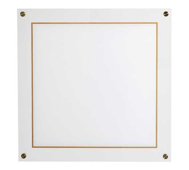 Acrylic/Brass Dry Erase Board - Pottery Barn