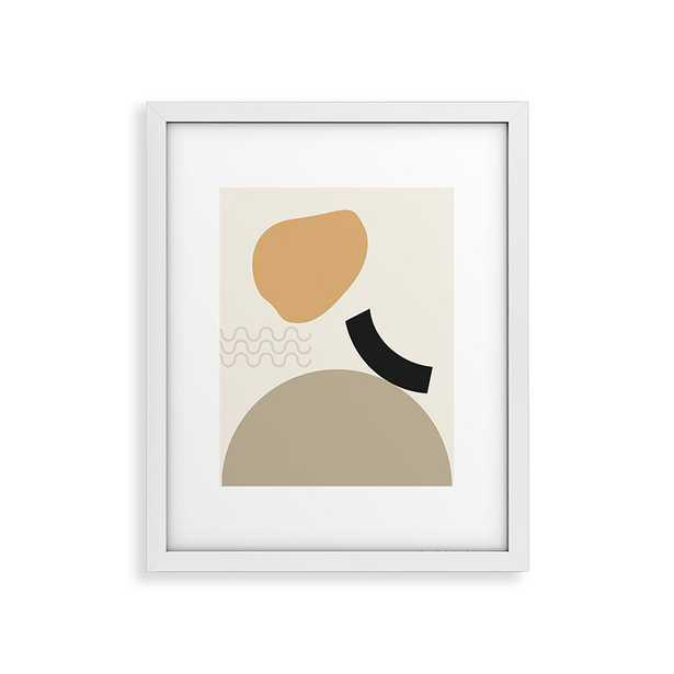 "Shape Study 24 by mpgmb - Modern Framed Art Print White 24"" x 36"" - Wander Print Co."
