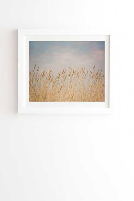 "Nantucket Gold by Ann Hudec - Framed Wall Art Basic White 8"" x 9.5"" - Wander Print Co."