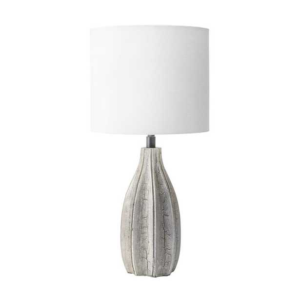 nuLOOM 20 in. Gray Burlington Wood Indoor Table Lamp - Home Depot