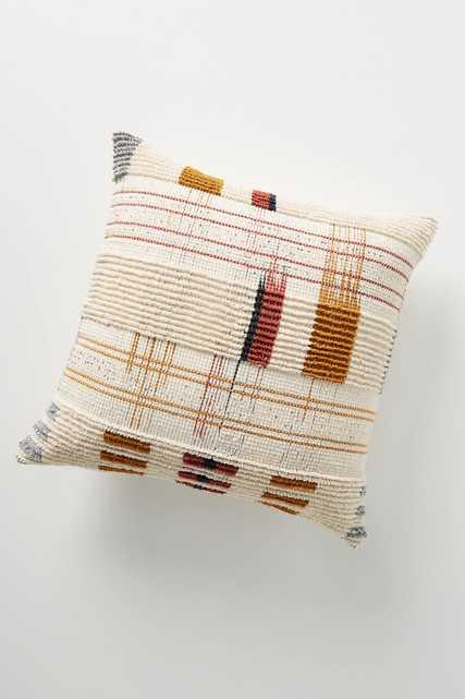 Woven Oxford Pillow - Anthropologie