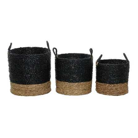 Woven Seagrass Basket Set, Set of 3 - Wayfair