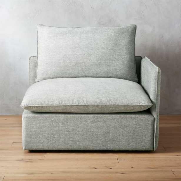 Lumin Grey Linen Corner Chair - CB2